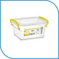 Пищевой пластиковый контейнер 0,85 л, бокс для еды