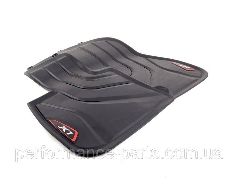 Резиновые коврики задние черные с красным значком BMW F48 51472365857