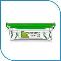 Набор пищевых пластиковых контейнеров 3 штуки (2,5л+1,2л+0,55л), боксы для еды