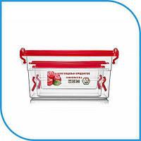 Набор пищевых пластиковых контейнеров 3 штуки (2л+0,95л+0,55л), боксы для еды