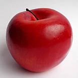 Штучне яблуко бордове кругле 7.5 див., фото 2