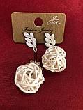 Серьги подвески цветы  женская итальянская бижутерия , фото 3