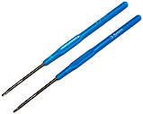 Крючок для вязания №3,5 (140mm), пластиковая ручка, фото 2