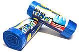 Мусорные пакеты с ручками 35 литров Фрекен Бок 30 шт/уп, синие, фото 2
