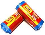 Сміттєві пакети 35 літрів Бонус+ 30 шт/уп, сині, фото 4