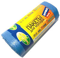 Мусорные пакеты 35 литров Традиции качества 33 шт/уп, синие