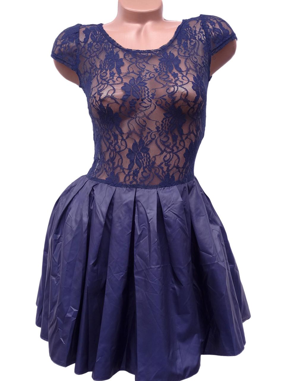 Нарядное платье с фатиновым подъюбником (в расцветках 40-46)