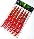 Набір кухонних ножів металокераміка середні 6 штук в наборі Серце (240mm), фото 2
