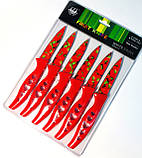 Набір кухонних ножів металокераміка малі 6 штук в наборі Серце (200mm), фото 2
