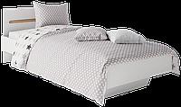 Кровать 1-сп 0,9 Бьянка Белый/Дуб сонома (Світ Меблів TM)