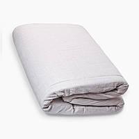 Матрас в кроватку (ткань лен) размер 70х140х7 см., серый