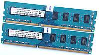 Комплект оперативной памяти Hynix DDR3 8Gb (4Gb+4Gb) 1600MHz PC3 12800U 2R8 CL11 (HMT351U6CFR8C-PB N0 AA) Б/У, фото 1