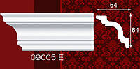 Плинтус потолочный 09005Е 64*64мм 2м