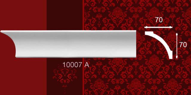 Плинтус потолочный 10007А 70*70мм 2м