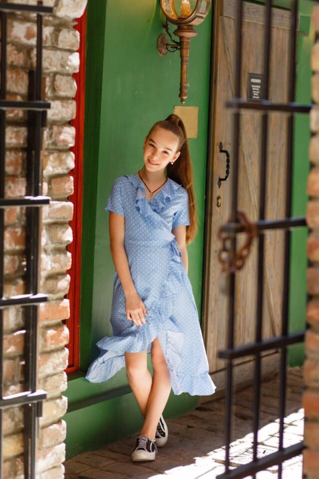 Платье LiLove 524-3 134 голубой