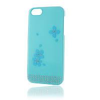 Чехол Diamond Flowers для iphone 5/5s Blue SWAROVSKI