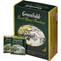 Черный Чай Greenfield Earl Grey (100х2 г) Бергамот в картонной упаковке