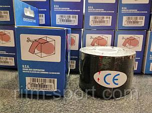 Кинезио тейп (Kinesio) эластичный пластырь  (l-5м * 5см, черный), фото 2