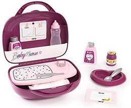 Набор для ухода за куклой - чемоданчик Baby Nurse Smoby, Прованс, Фуксия 3+ (220341)
