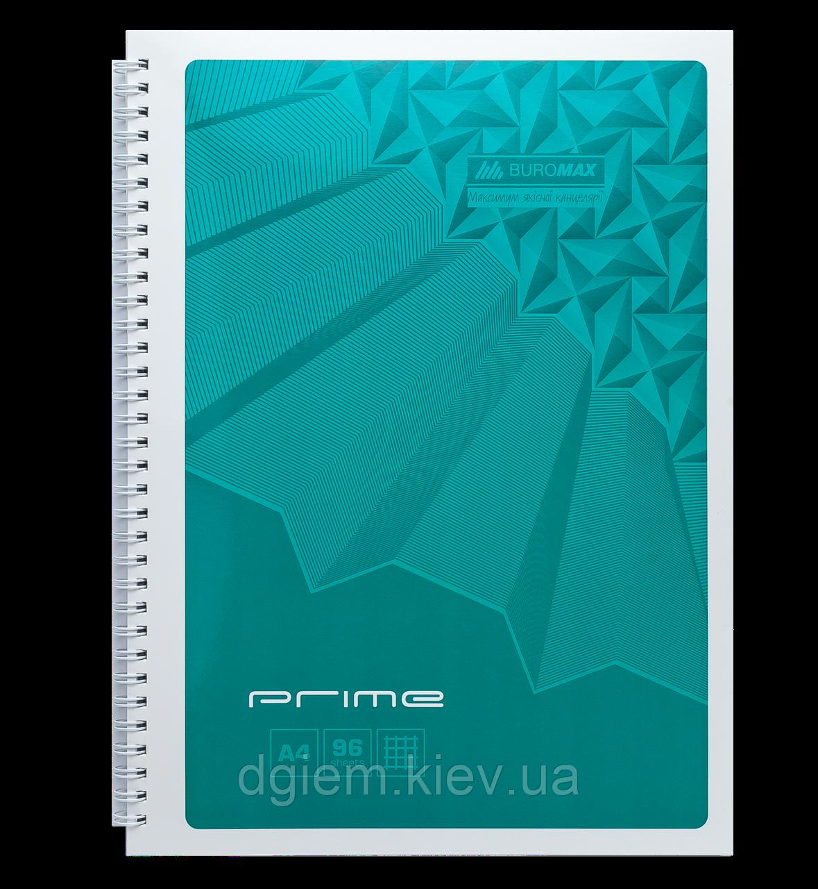 Блокнот А4 96л PRIME пружина сбоку, карт. обложка
