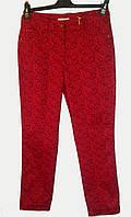 Женские красные брюки больших размеров стрейч, хлопок Турция