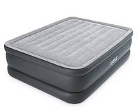 Двуспальная надувная кровать Intex + встроенный электронасос 220V  152x203x51 см  (64140)