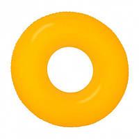 Надувной круг Intex 59262 Неон Оранжевый 91см, фото 1