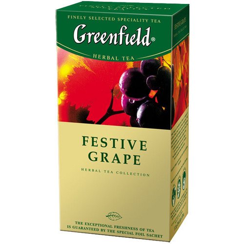 Травяной Чай Greenfield Festive Grape (25 шт) Виноград