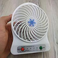 Портативный настольный вентилятор Portable Fan Mini Fan белый