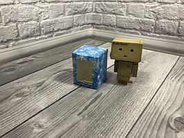 Коробка / Бонбоньерка / 60х60х75 мм / печать-Снег.Син / окно-обычн / НГ