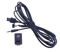 3.5 мм USB AUX наушников Мужской Джек заподлицо монтажный адаптер, фото 1