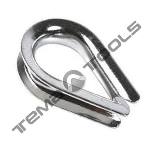 Коуш стальной для каната 3 мм DIN 6899B