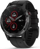 Спортивные часы Garmin Fenix 5 Plus Sapphire Black with Black Band (010-01988-01), фото 1