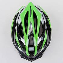 Велошлем кросс-кантри с механизмом регулировки HY032 (EPS,пластик, PVC, р-р M (55-58), цвета в ассортименте), фото 3