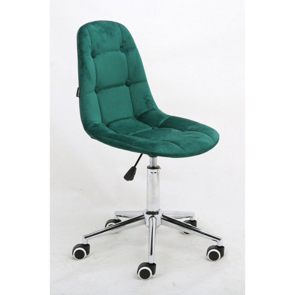 Парикмахерское кресло Hrove Form HR1801K велюр, зеленый