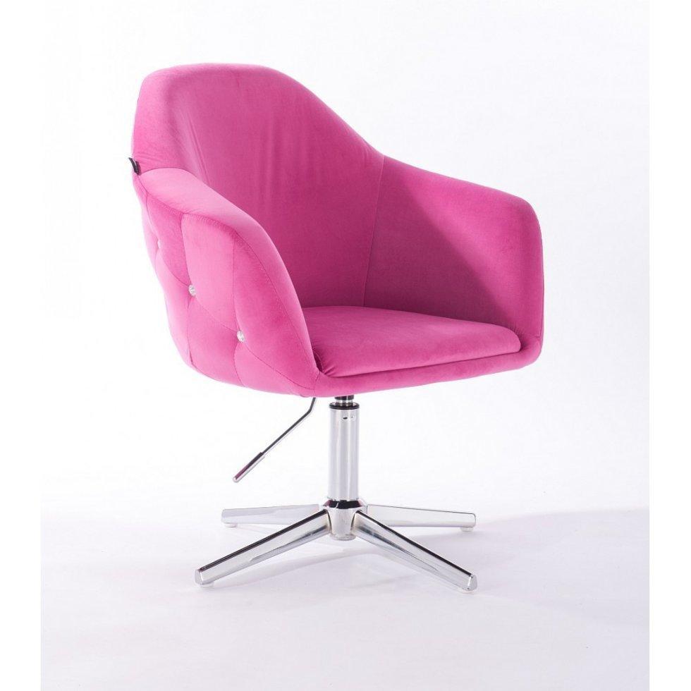 Парикмахерское кресло Hrove Form HR547C малиновый