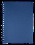 Блокнот А4 80л STATUS пружина сбоку, пласт. обложка, фото 3