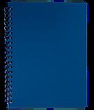 Блокнот А4 80л STATUS пружина сбоку, пласт. обложка, фото 4