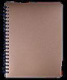 Блокнот А4 80л STATUS пружина сбоку, пласт. обложка, фото 2
