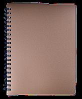 Блокнот А4 80л STATUS пружина сбоку, пласт. обложка, фото 1