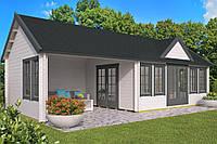 Дом деревянный из профилированного бруса 9.3х4. Скидка на домокомплекты на 2020 год