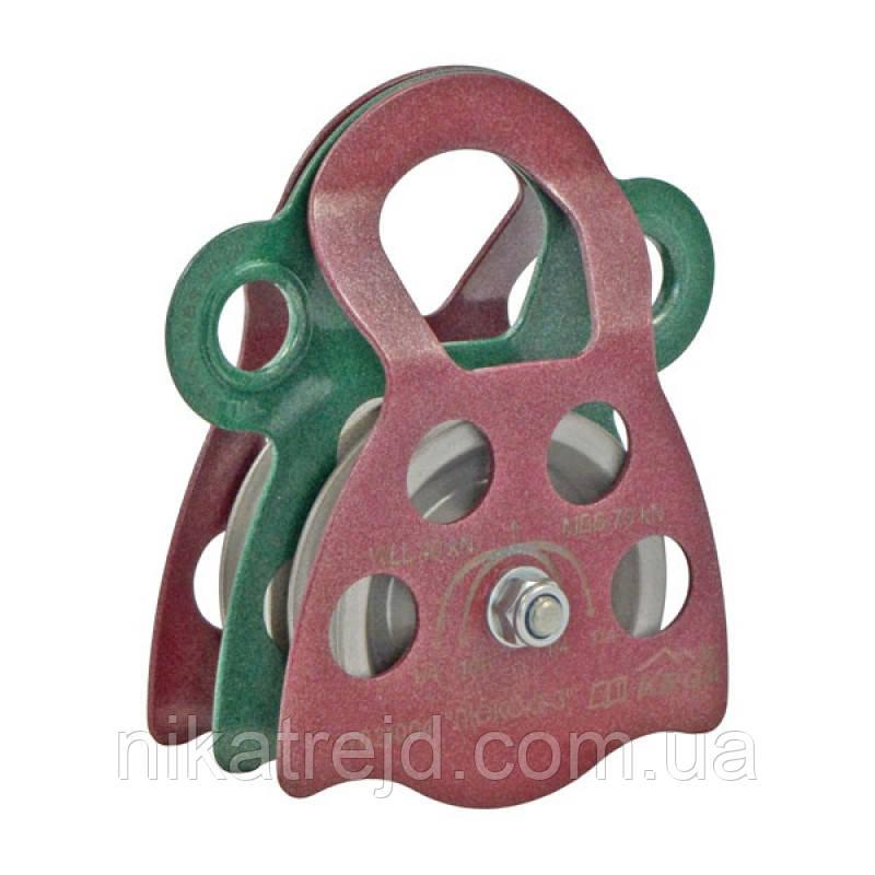 Блок-ролик двойной ЛЮКС-2/2 (сталь, Ø 78/68 мм)