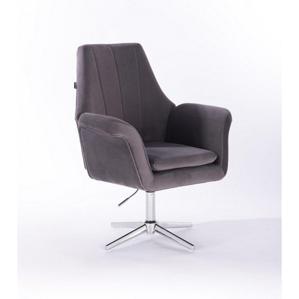 Парикмахерское кресло Hrove Form HR660C, графитовый