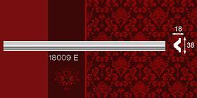 Плинтус потолочный пристенный 18009Е 18*38мм 2м