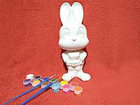 Гипсовая копилка для раскрашивания «Зайчиха Джуди Хопс» БЕЗ КРАСОК, фото 1