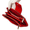 Большой женский кошелек BUTUN 507-005-006 кожаный красный, фото 6