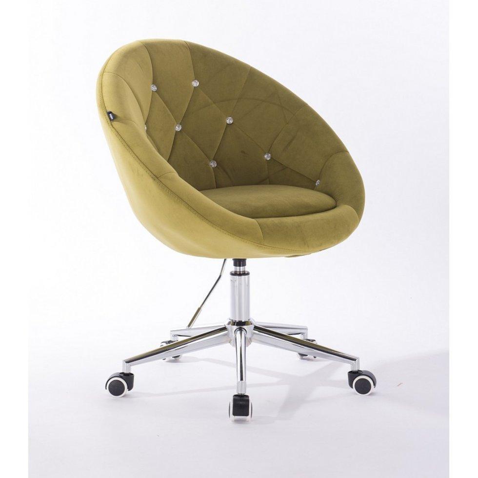Парикмахерское кресло Hrove Form HR8516CK оливковый