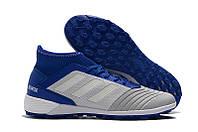 Футбольные сороконожки adidas Predator Tango 19.3 TF Grey/White/Bold Blue