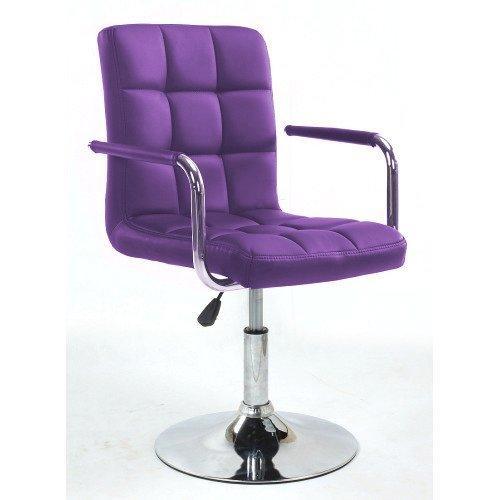 Парикмахерское кресло Votana HC1015NP фиолетовый