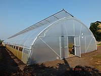 Теплицы фермерские промышленные для бизнеса из пленки с верхним проветриванием на заказ цена, фото 1